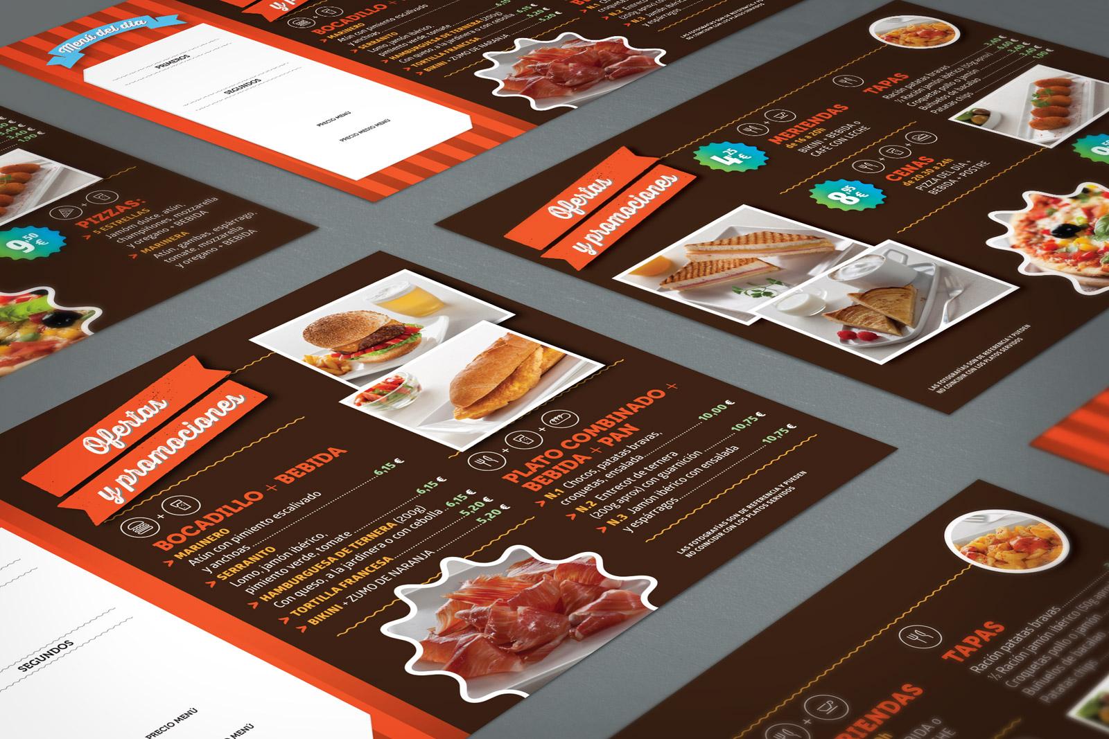 promotional material cirsa placemat menu
