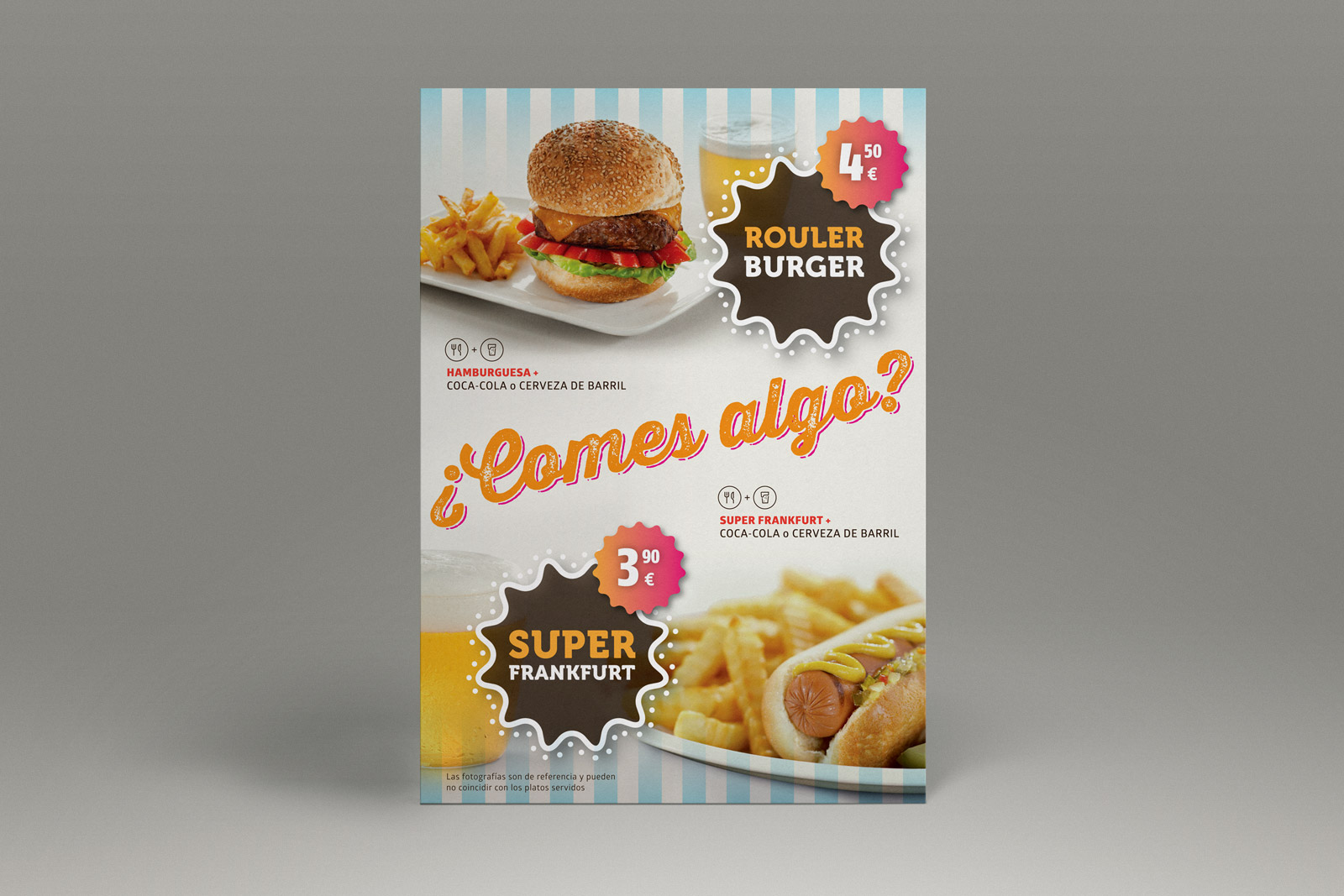 promotional material cirsa flyer burguer