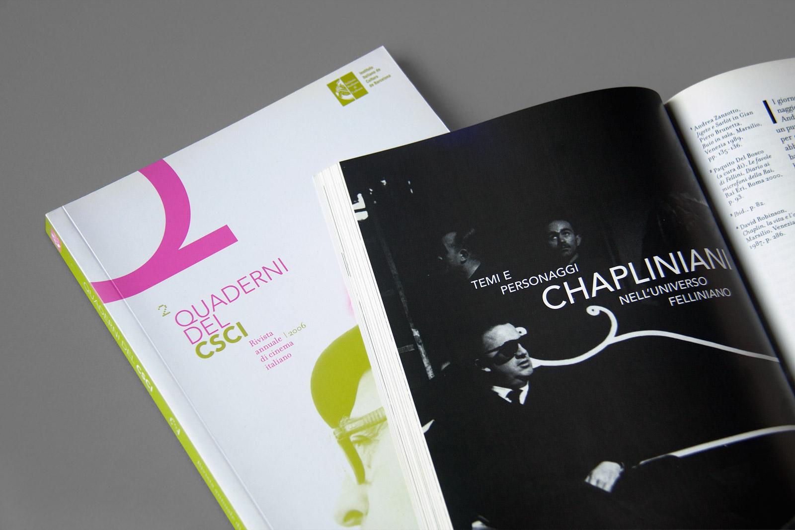 Quaderni del CSCI journal interior title page