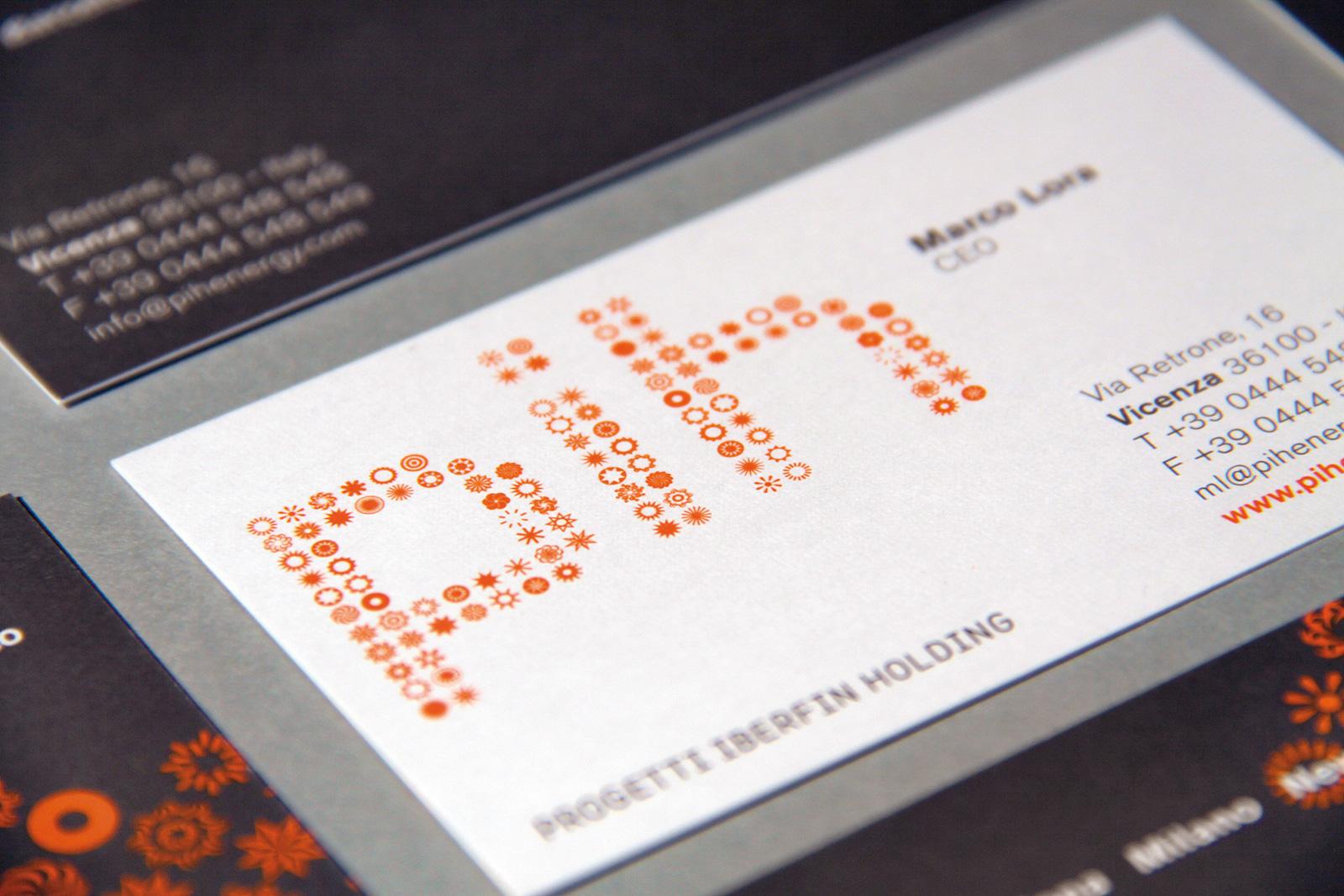 pih business cards detail