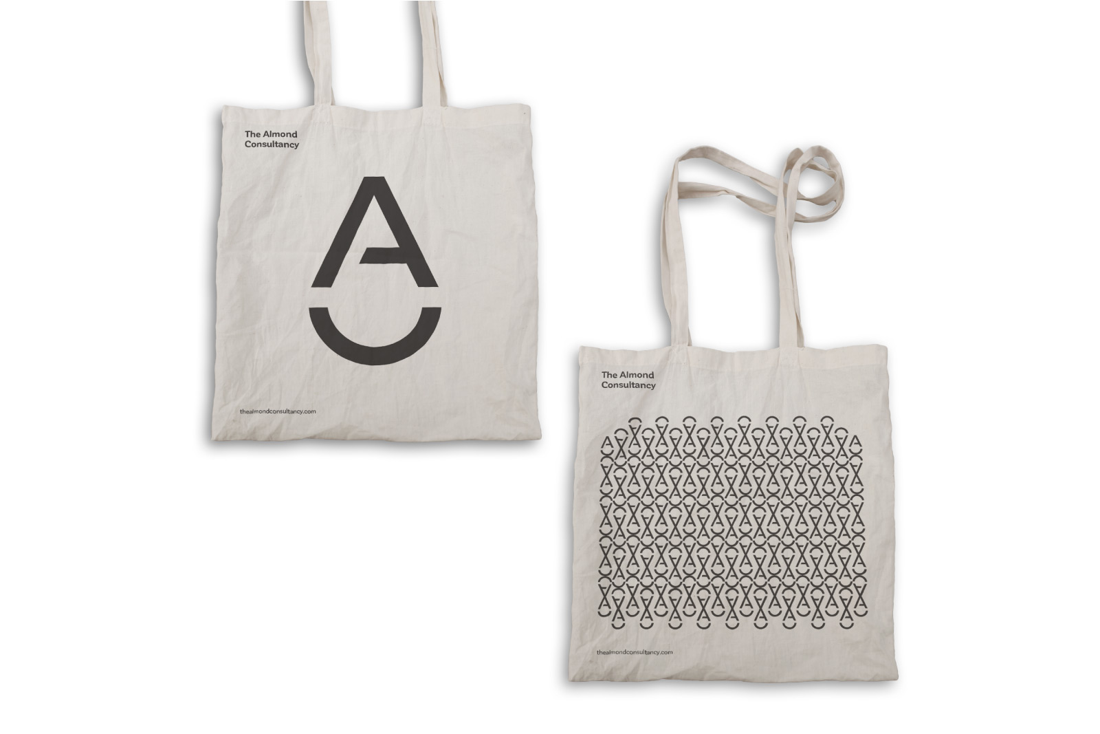 almond logo bag